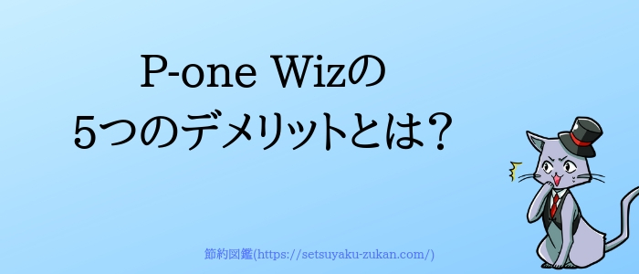 P-one Wizの5つのデメリット